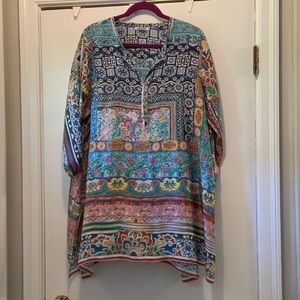 Johnny Was Multicolored Sheer tunic